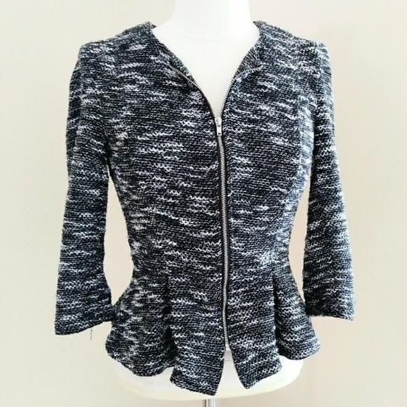 0d7cadc666acb9 H&M Jackets & Coats   Sale Today Onlyhm Tweed Peplum Blazer Top 8 ...